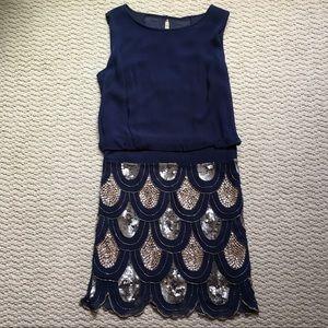 Betsy & Adam Sequin Dress